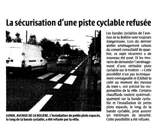 article piste cyclable